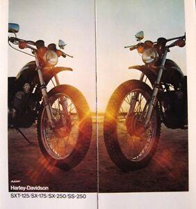 1975-1976-Harley-Davidson-Brochure-SXT-125-SX-175-SX-250-SS-250-Original-75-76