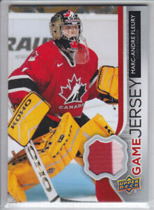 2014-15-UD-SERIES-MARC-ANDRE-FLEURY-GAME-JERSEY-GJ-ES-GAME-USED-Upper-Dec-Canada