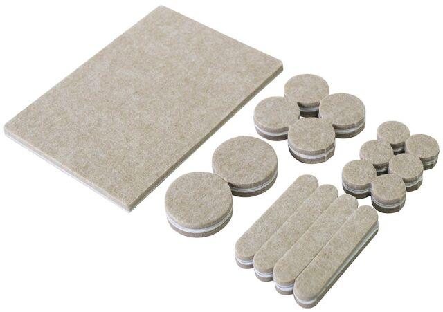 Amtech 33 Piece Self Adhesive Felt Pad Set Furniture Floor Protectors S5335
