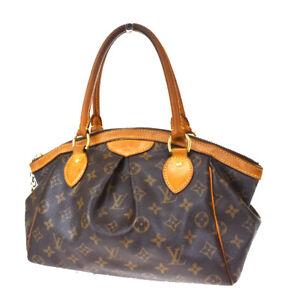 Authentic Louis Vuitton Tivoli PM Hand Bag Monogram Leather Brown M40143 84MG448