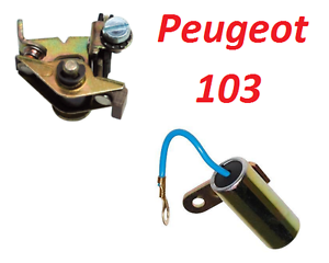 PEUGEOT 102 103 CAPACITOR CONDENSER CONTACT BREAKER POINTS IGNITION RUN MOPED