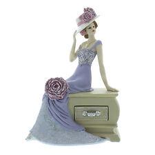 Juliana Art Deco Vintage Rose Lilac Dress Lady Figurine / Ornament.New.58441