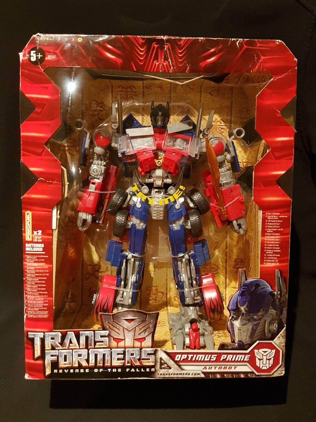 Transformers rojof Mechtech Leader Class Optimus Prime Figura De Acción 2008 Hasbro
