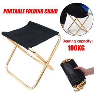 Sensational Details About Portable Folding Chair Outdoor Camping Fishing Picnic Bbq Stool Seat With Bag Pdpeps Interior Chair Design Pdpepsorg
