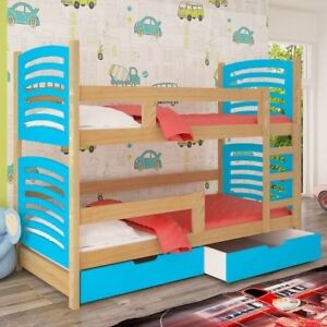 Bunk Bed Oli 3b With Mattresses Storage Container Pine Wood Mdf