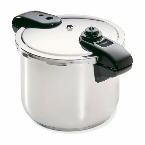 8-Quart Home Pressure Cooker Regulator Stainless Steel Vegetables Meats Poultry