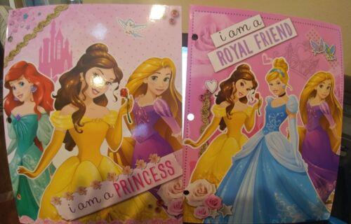 Two New Disney Princess 2-Pocket Princess Folder I am a Royal Friend