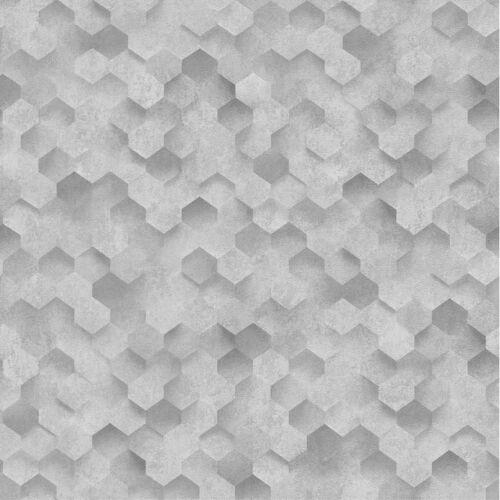 Gris Argenté 3D effet nid d/'abeille Hexagone Wallpaper Coller le mur VINYL P S