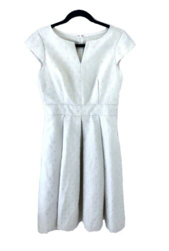 Eliza J Jacquard Silver Metallic Dress Party Forma