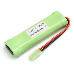 Battery Packs 2 X Flat Pack Nimh 9.6v 1600mah Rechargeable Battery Pack For Rc Car Toy Airsoft Gun With Mini Tamiya Connector