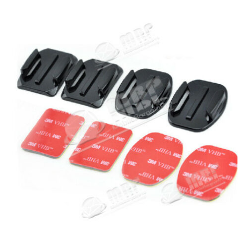4 5 4pc Camera Curved /& Flat Adhesive Mounts 3M Adhesive for Gopro Hero 1 2 3 3