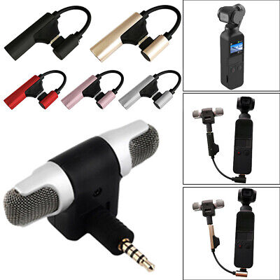 Type C to 3.5mm Audio Adapter External Wireless Microphone For DJI Osmo Pocket