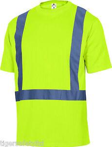 Delta-Plus-Panoply-Feeder-High-Visibility-Yellow-Mens-T-Shirt-Hi-Vis-Hi-Viz-Tee