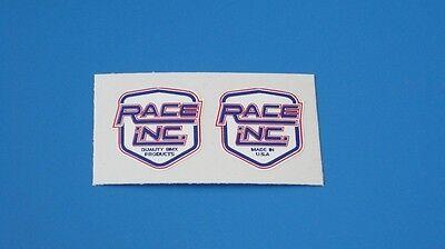 RACE INC BAR Decals pair