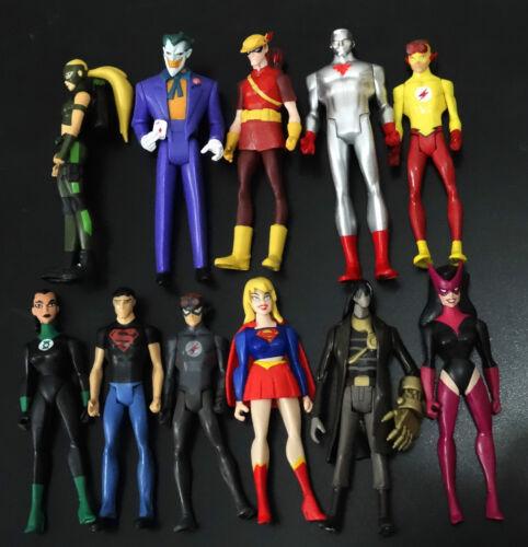 11pcs DC Universe superman Superboy SuperGIRL ARTEMIS NIGHTWING black kid flash