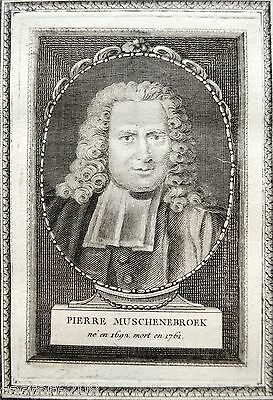 Smart Stone Muschenbroek 1692 1761 Engraving Portrait Engraved Frizzed Blanchon Other Antiques