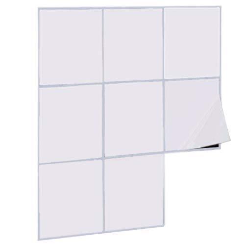 Fliesenaufkleber Fliesensticker, 15x15 cm, weiß glänzend selbstklebend