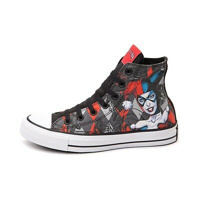 NEW PRINT Converse HARLEY QUINN All Star Chuck Taylor Diamond Shoes Mens