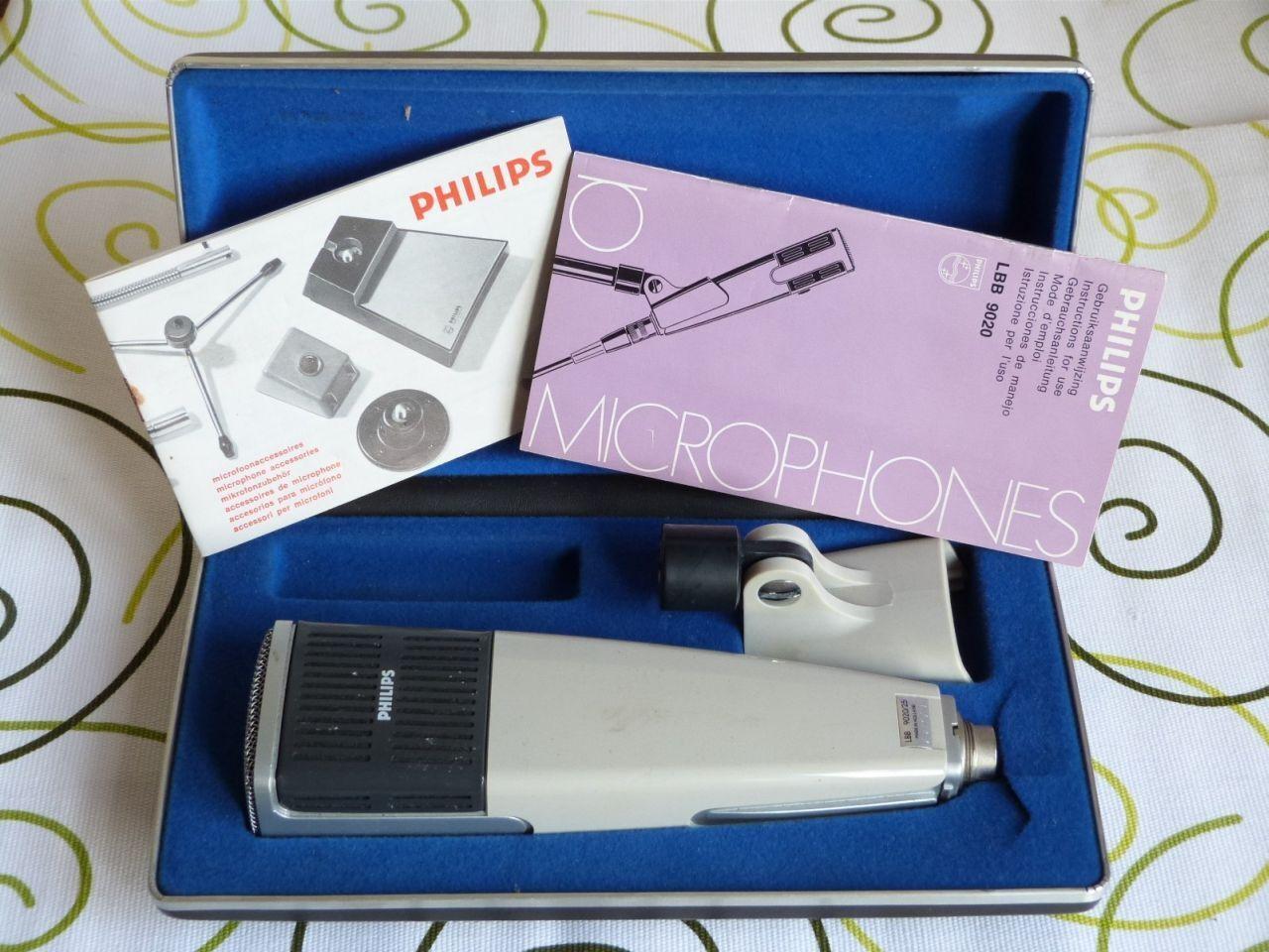 Alte Philips LBB9020 Dynamisches Mikrofon w Case