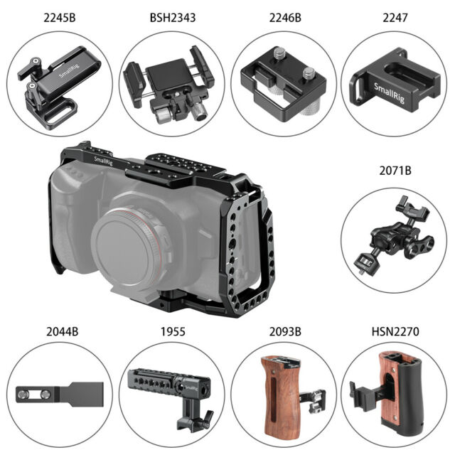Lanparte Bmpcc 01 Blackmagic Pocket Cinema Camera Compact Cage For Sale Ebay