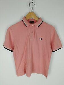 FRED-PERRY-Maglia-Maniche-Corte-Polo-Shirt-Maglia-Tg-XL-Donna