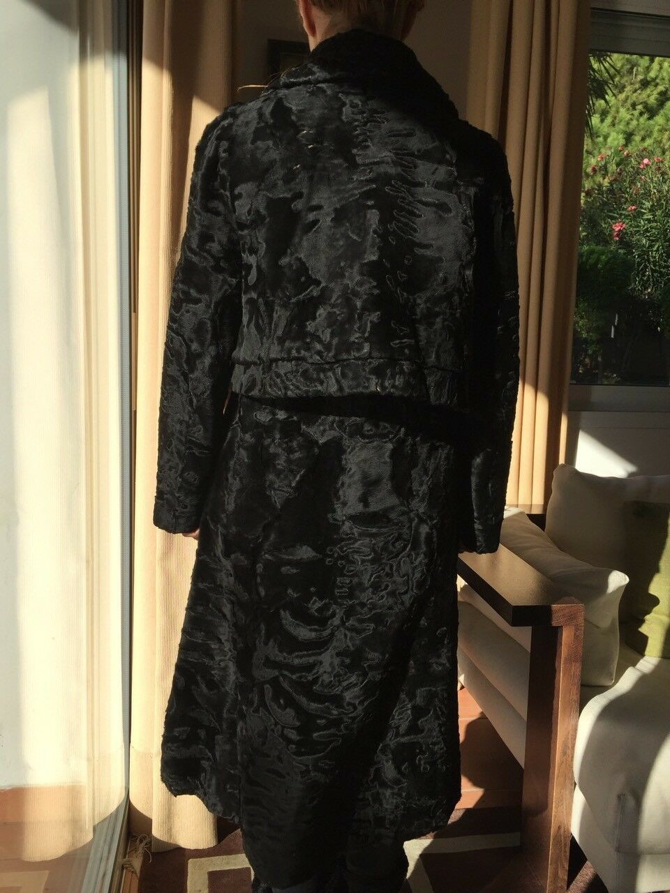 Hartnell designer coat/fur SZ SMALL MEDIUM - image 4