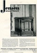 1928 Print Ad of Jensen Model 6 Dynamic Speaker Cabinet