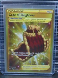 Pokemon Cape of Toughness Vivid Voltage Secret Rare Gold Trainer 200/185 T468