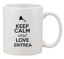Keep Calm And Love Eritrea Africa Country Map Patriotic Ceramic White Coffee Mug