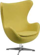 Flash Furniture ZB-20-GG Citron Wool Fabric Egg Chair with Tilt-Lock Mechanism