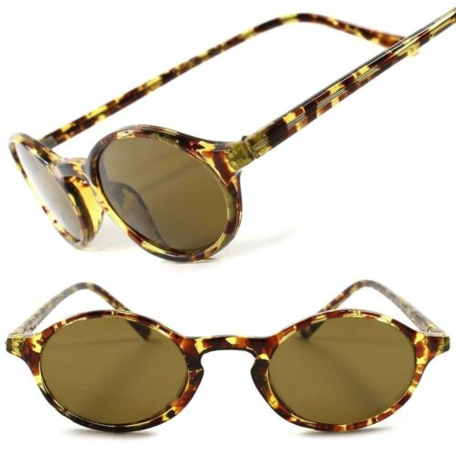 Old School Vintage Retro 80s Hippie Hot Mens Womens Small Oval Round Sunglasses
