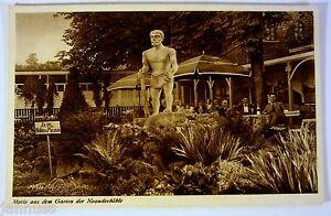 alte-Ansichtskarte-Postkarte-Kuenstlerkarte-Gasthaus-Neanderhoehle-Mettmann