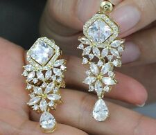 DAISY CZ CHANDELIER DANGLE EARRINGS WEDDING BRIDAL PROM JEWELRY CZ11912G GOLD