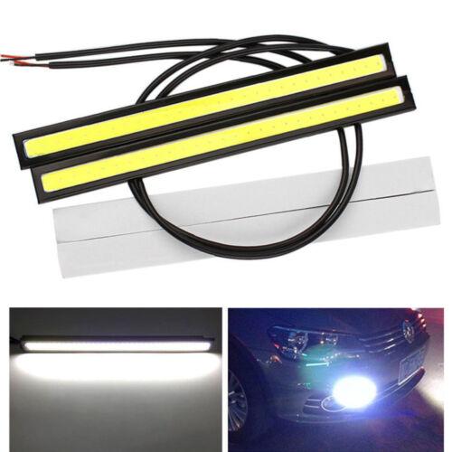 2 pcs 17CM COB LED White Strip Car Daytime Running Light Lamp Waterproof DRL TRT