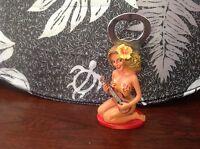 Hawaiian Hula Girl Posing Bottle Opener