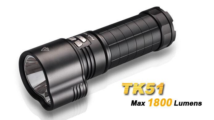 Fenix TK51 1800-Lumen LED Linterna 3x18650 pilas (no incluidas)