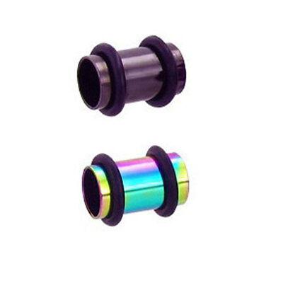 Ear Plugs Tunnel Wednesday Addams Gauge Stretchers black Goth 6mm-25mm