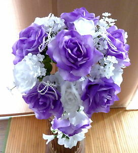 Brautstrauss Hochzeitsstrauss Flieder Weiss Blumenstrauss Hochzeit Ebay