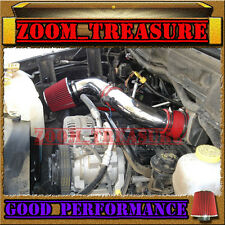 "RED 03-08 DODGE RAM 1500/2500/3500 5.7L V8 HEMI AIR INTAKE S Type - 10"" FILTER"