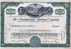 Pennsylvania Railroad Company Stock Certificate Horseshoe Curve Green Norfolk