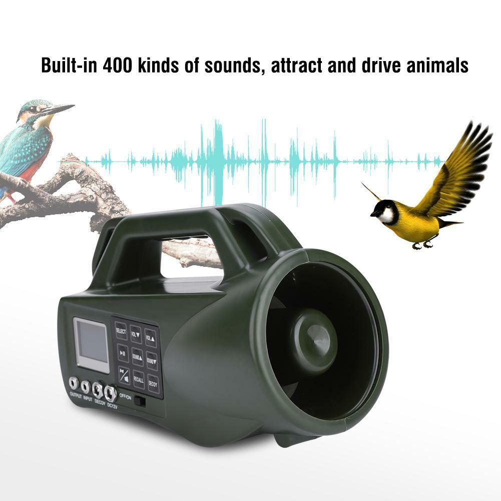 400 Animal Sounds Outdoor Hunting MP3 Player Bird Animal 400 Decoy Bird Caller Loud Speaker c227fd