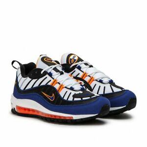 best website 9f2dc aa99e Details about Nike Air Max 98 New York White Deep Royal Blue Knicks  CD1536-100 AMX SZ 7-13 DS