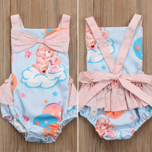 Newborn Toddler Baby Girl Tutu Princess Romper Jumpsuit Bodysuit Clothes Outfit