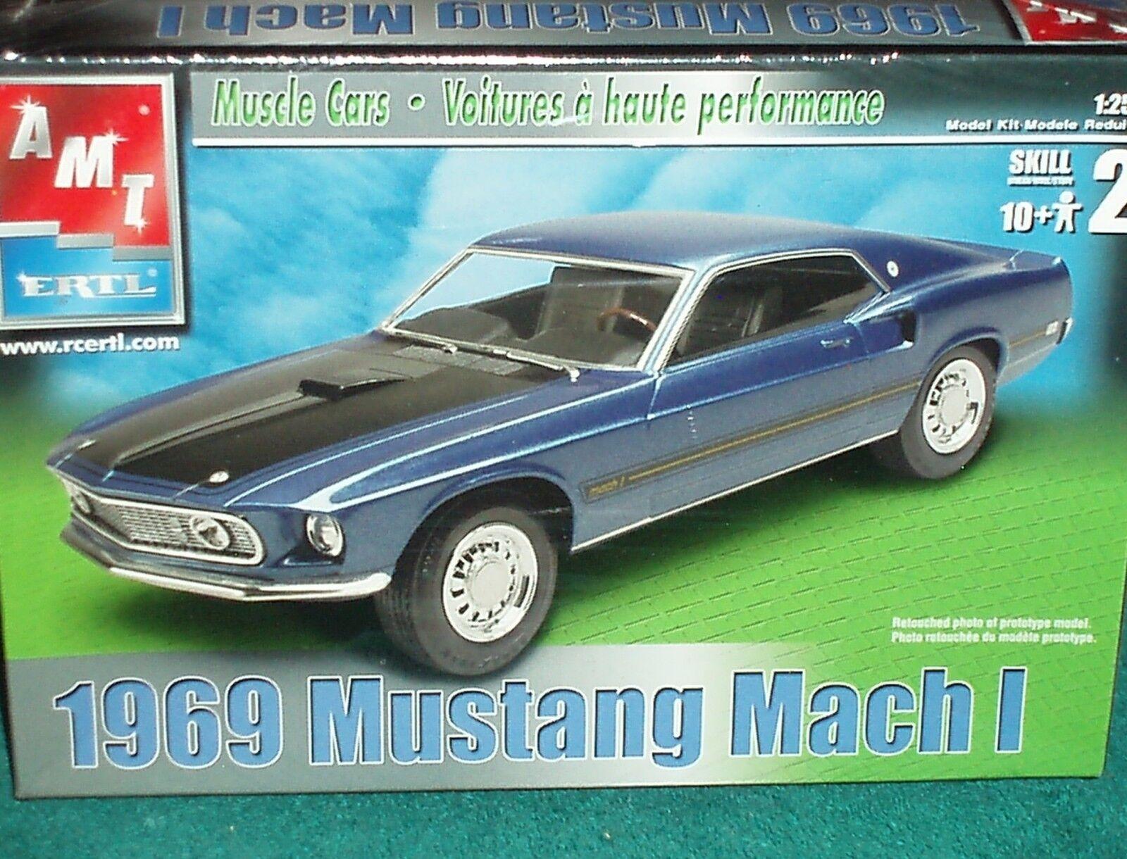 Juguetes Modelo De Aluminio 1969 Ford Mustang Mach 1 Plástico Modelo Kit 1 25 nivel de habilidad 2 Nuevo En Caja Sellada