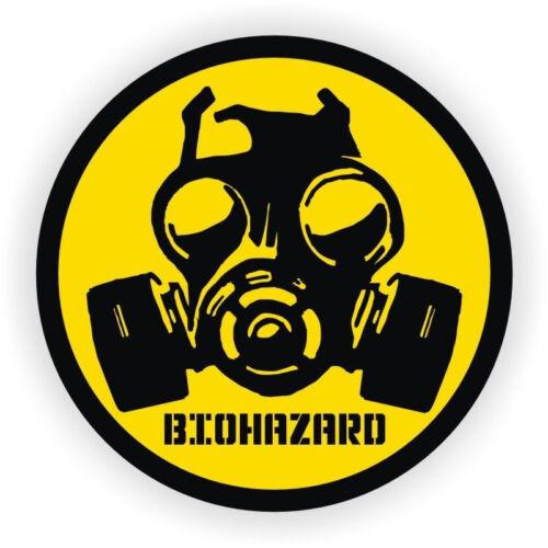 3pc Bio-Hazard Gas Mask Symbol Hard Hat Sticker// Helmet Label Decal Zombie Virus