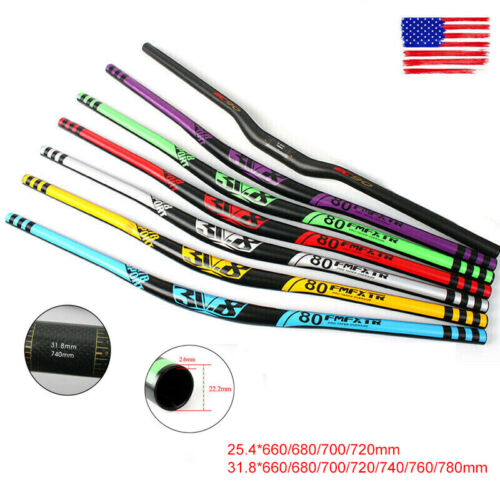 MTB Handlebar Carbon Fiber 31.8//25.4*660-760mm AL Extra Long Bar 31.8*780mm DH