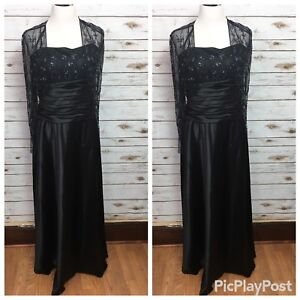 60af37273ea Details about Cachet Womens Size 10 Black Beaded Full-Length Formal Evening  Gown