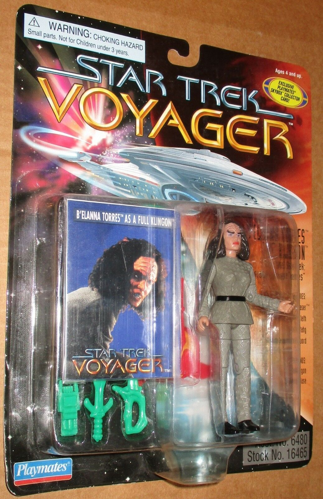 000002 Star Trek Voyager Niedrig Number B'Elanna Torres Klingon MOC 1996 Playmates