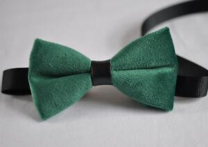 84509ffb76ee Baby Kids Boy Blackish Dark Green Velvet Bowtie Bow Tie Fits 1 to 6 ...