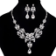 Chic-Bib-Collar-Choker-Chunky-Rhineston-Crystal-Chain-Pendant-Statement-Necklace thumbnail 12